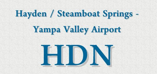Hayden - Steamboat Springs - Yampa Valley Airport Code