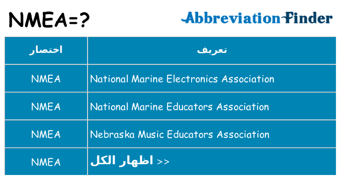 ما هو NMEA؟ --تعاريف NMEA | الباحث عن اختصار