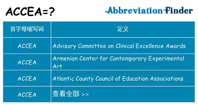 accea 代表什么