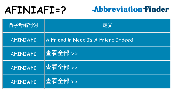 afiniafi 代表什么