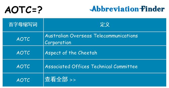 aotc 代表什么