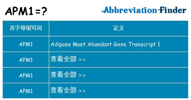 apm1 代表什么