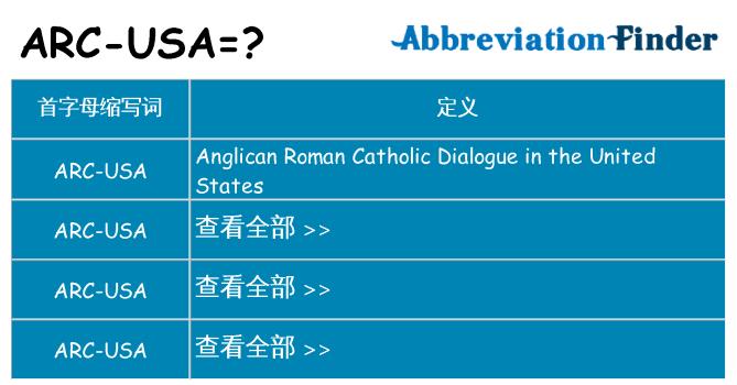 arc-usa 代表什么