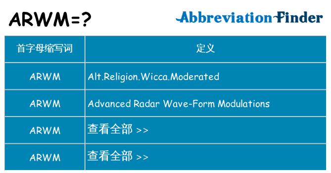 arwm 代表什么