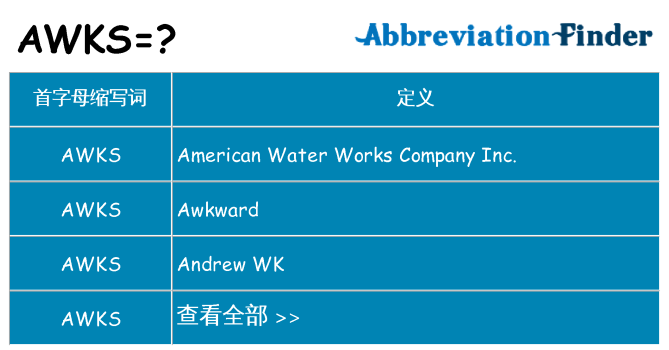 awks 代表什么