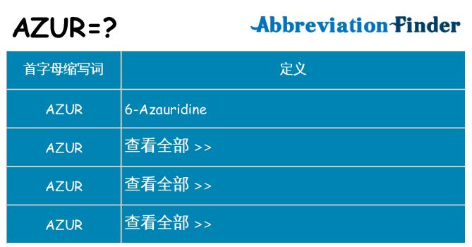 azur 代表什么