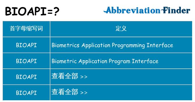 bioapi 代表什么
