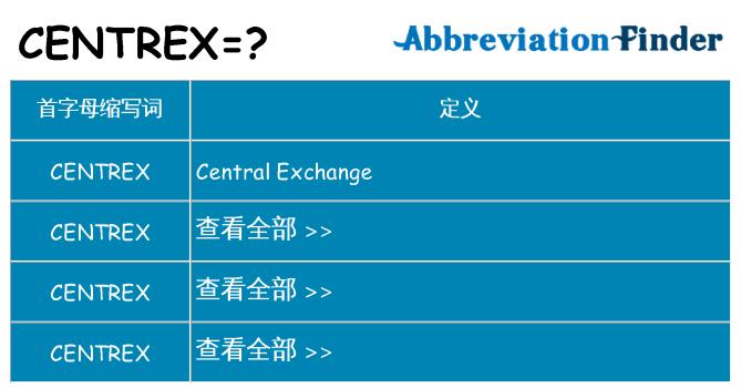 centrex 代表什么