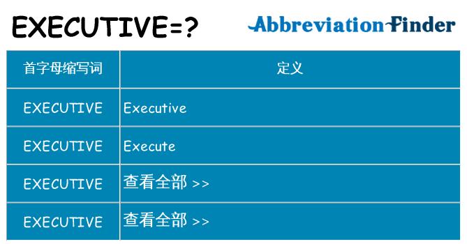 executive 代表什么