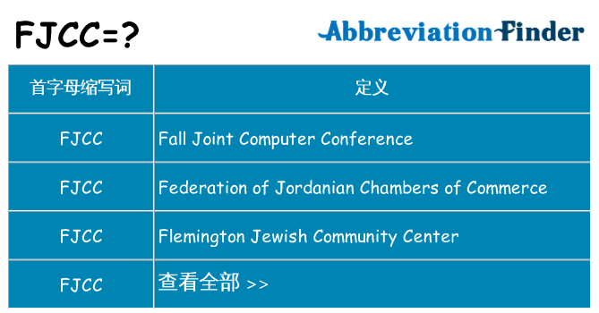 fjcc 代表什么