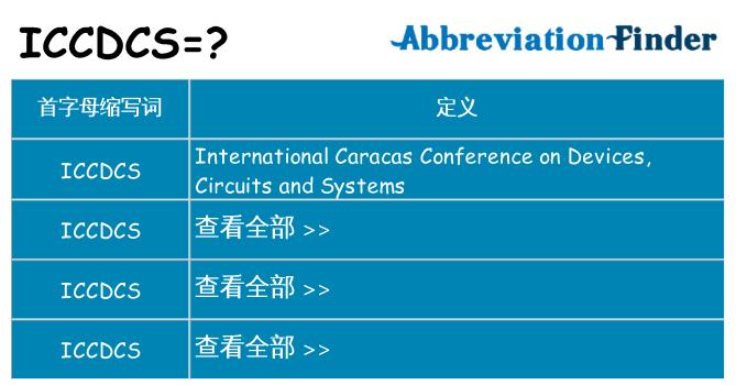 iccdcs 代表什么