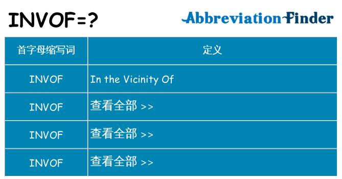invof 代表什么