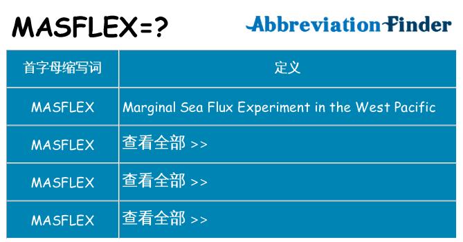 masflex 代表什么