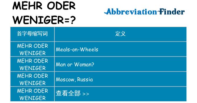 mehr-oder-weniger 代表什么
