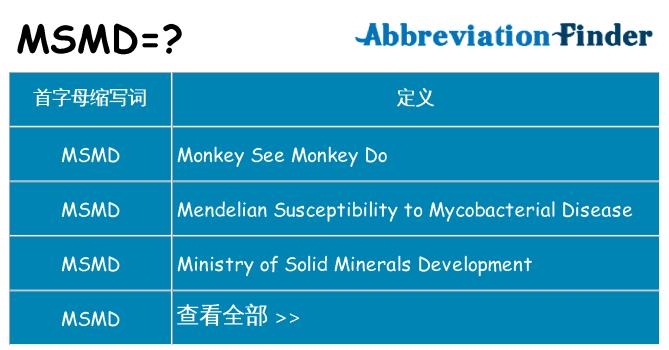 msmd 代表什么