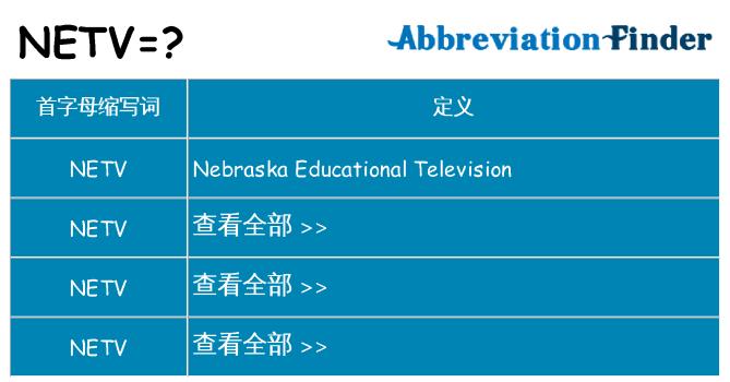 netv 代表什么