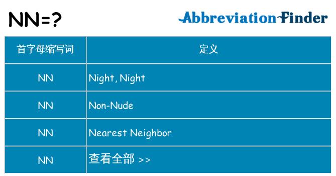 nn 代表什么
