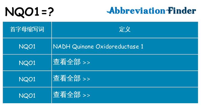 nqo1 代表什么