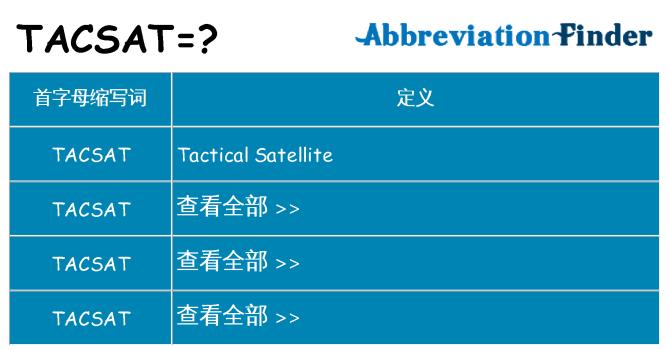 tacsat 代表什么