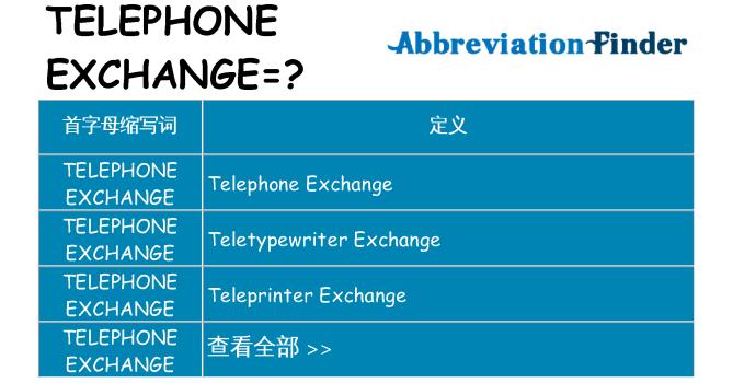 telephone-exchange 代表什么