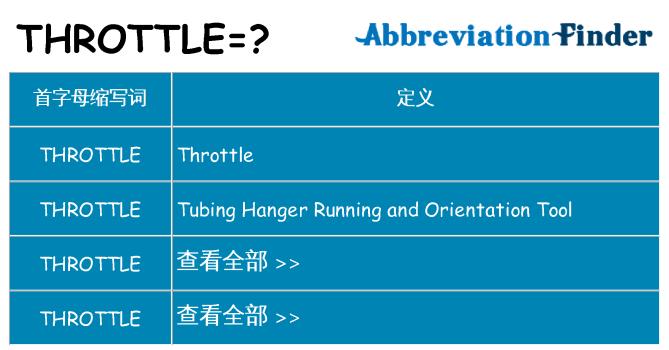 throttle 代表什么