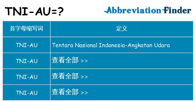 tni-au 代表什么