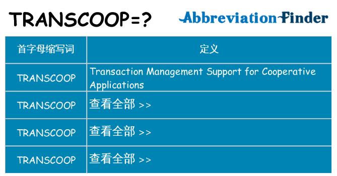 transcoop 代表什么
