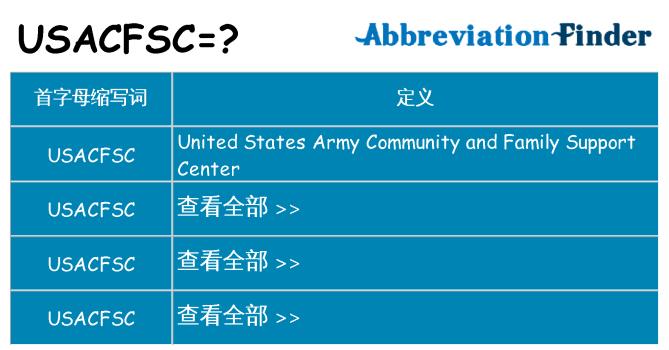 usacfsc 代表什么
