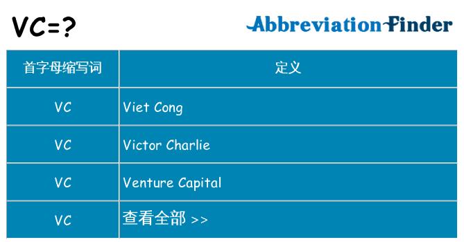 vc 代表什么