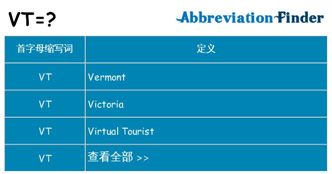 vt 代表什么
