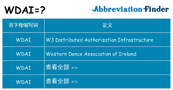 wdai 代表什么
