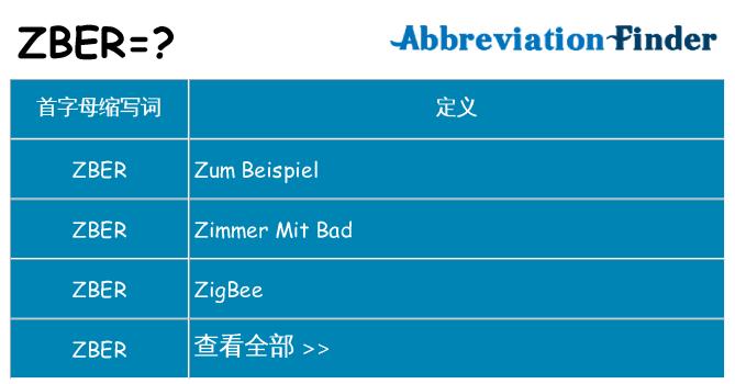 zber 代表什么