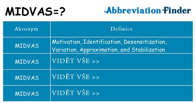 Co znamená midvas