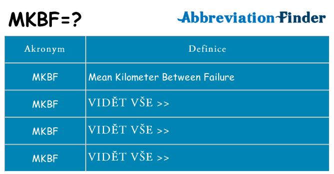 Co znamená mkbf
