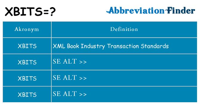 Hvad betyder xbits står for