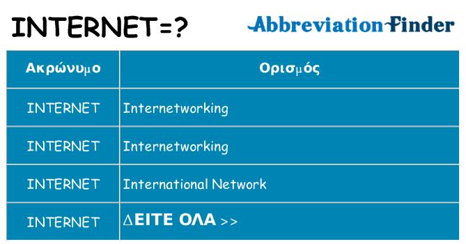Τι σημαίνει internet ηρεμήσει
