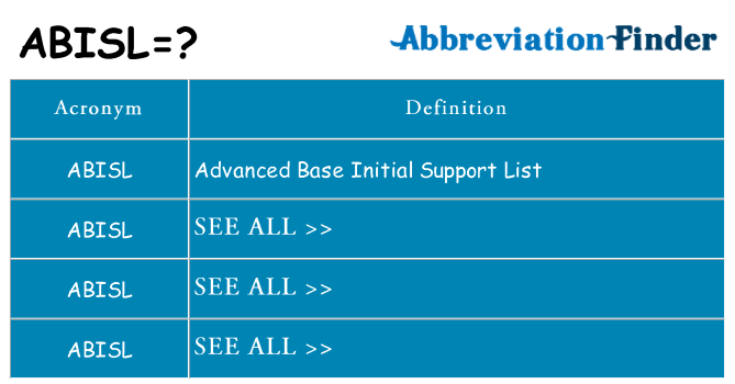 What does abisl stand for