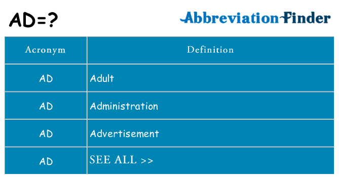 What does ad stand for