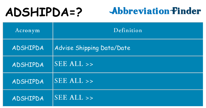 What does adshipda stand for