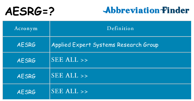 What does aesrg stand for
