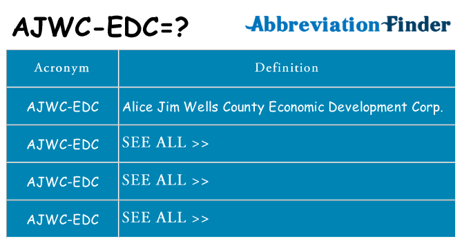 What does ajwc-edc stand for