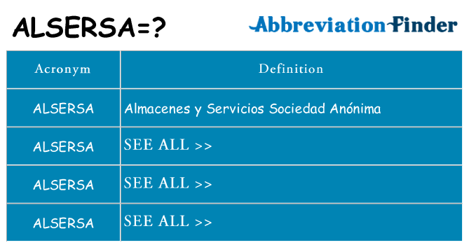 What does alsersa stand for