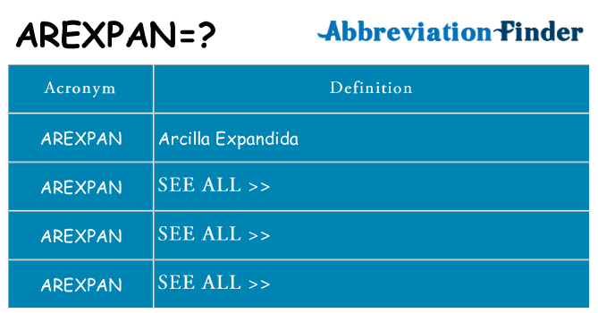 What does arexpan stand for