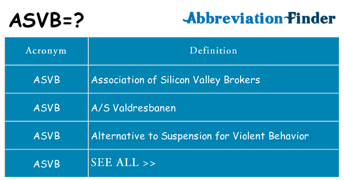 What does asvb stand for