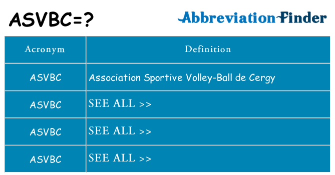 What does asvbc stand for