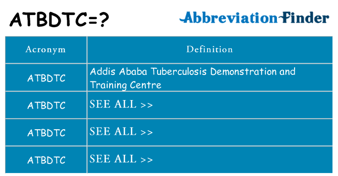 What does atbdtc stand for