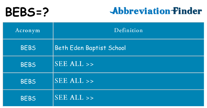 What does bebs stand for