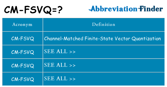 What does cm-fsvq stand for
