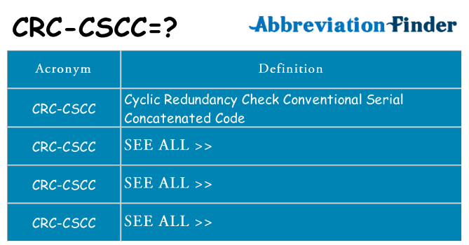 What does crc-cscc stand for