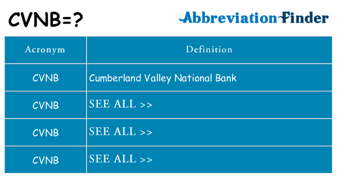 What does cvnb stand for